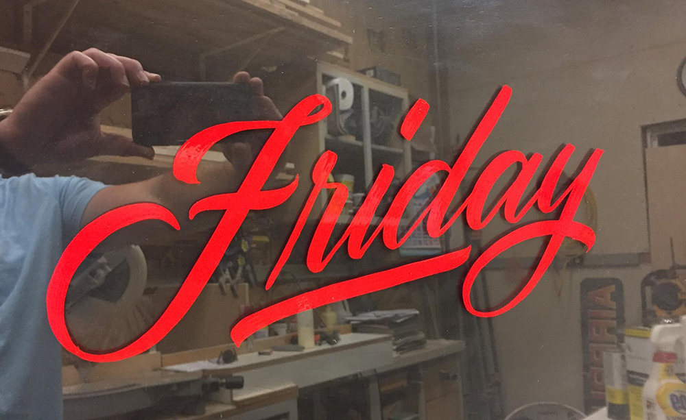 Intro to Handpainted Lettering with Ken Johnson – Friday April 24th 4pm to 8pm